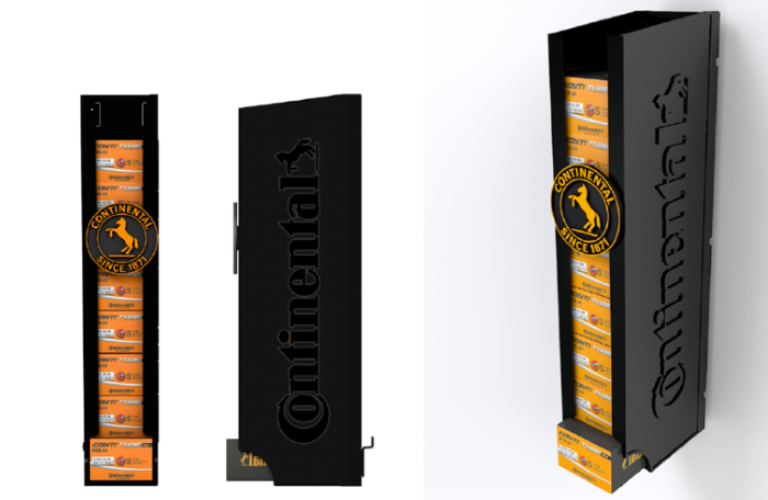 Continental cycle tube dispenser