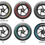 Bridgestone MotoGP tyre colour scheme 2015