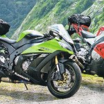 Sport touring tyres for a sports bike