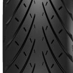 What does a motorcycle tyre tread pattern to
